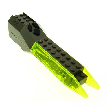 1 x Lego System Electric Sound & Light Modul alt-dunkel grau transparent neon grün 4x20x5 Licht Geräusch Space Insectoids geprüft x239
