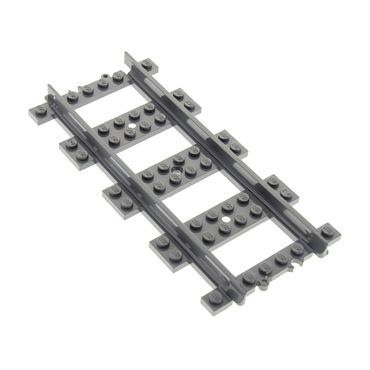 1 x Lego brick  Dark Bluish Gray Train, Track Plastic (RC Trains) Straight 53401