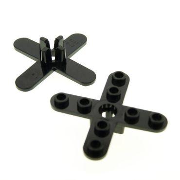 2 x Lego System Rotor schwarz 4 Blätter 5 Diameter/Durchmesser Propeller Technic Hubschrauber Helikopter 2479
