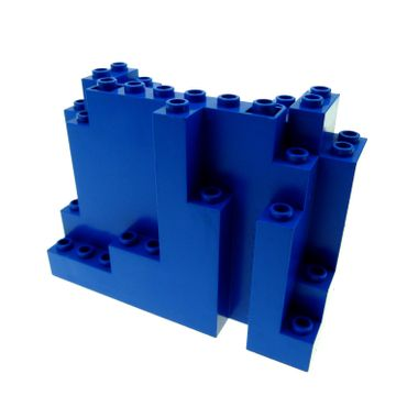 1 x Lego brick blue Rock Panel Rectangular 6082