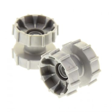 2 x Lego Technic Ketten Antriebsrad perl hell grau Führungsrad Kettenräder Raupe Tread Hub Rad 4177424 32007