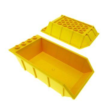 2 x Lego System Kipper Auflage gelb 4x6 Ladefläche LKW Kipp Laster Kipper Mulde Tipper Bed 4080
