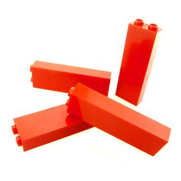 4 x Lego System Stütze rot 1x2x5 Basic Bau Stein Säule Pfeiler Wand Mauer 245421 2454