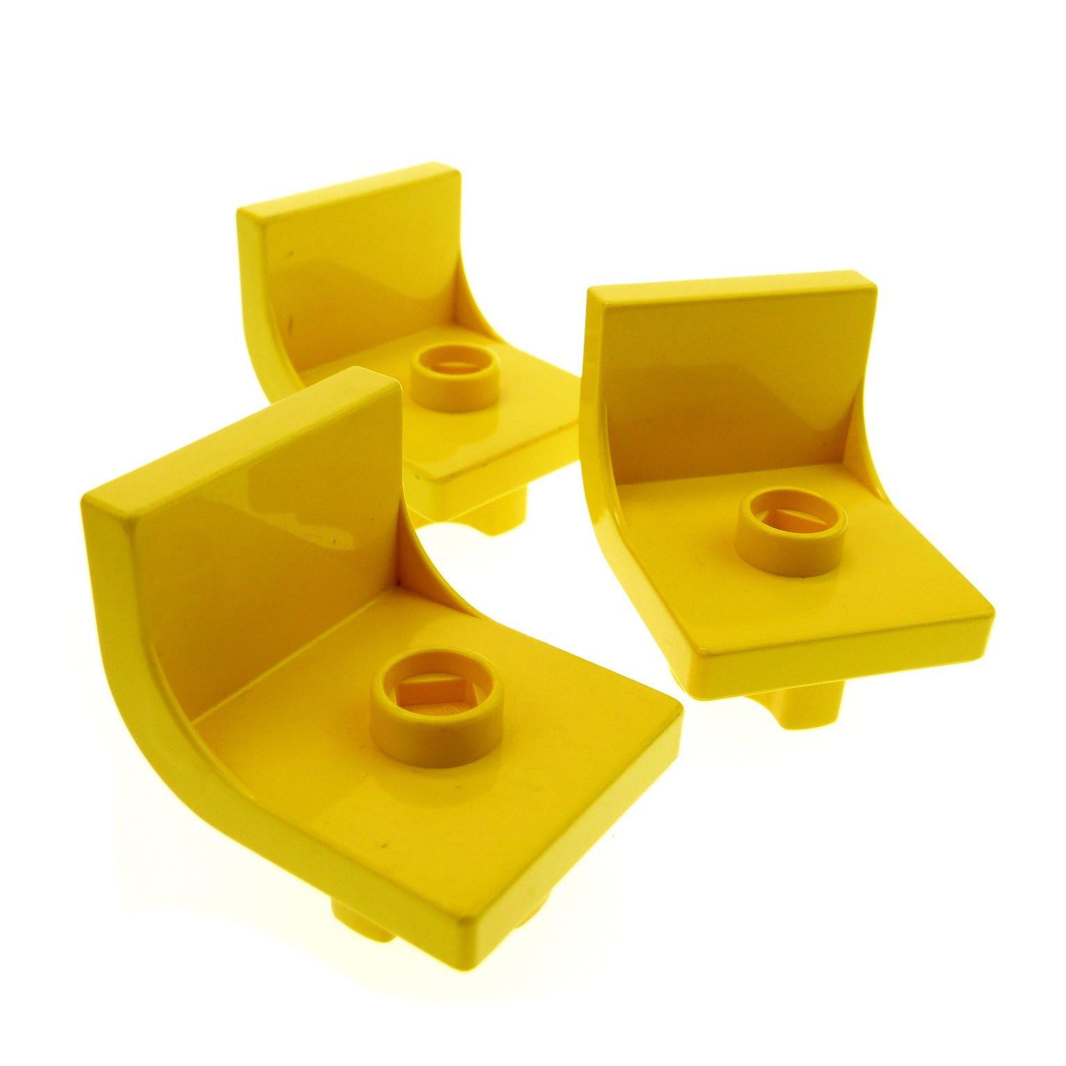 3 x lego duplo stuhl gelb 1 noppe sitz st hle k che wohnzimmer schlafzimmer puppenhaus m bel set. Black Bedroom Furniture Sets. Home Design Ideas
