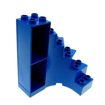 1 x Lego brick blue Duplo Building Stairs with Drawer Slots 6511