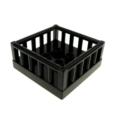 1 x Lego brick black Duplo Furniture Playpen 4 x 4 with 4 Studs Inside Set 3089 2252