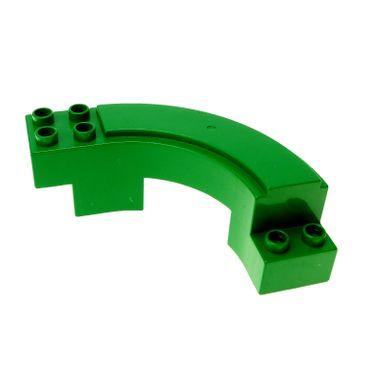 1 x Lego brick green Duplo Road Section Curve Set 3267 2284 9067 31205