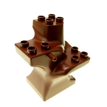 1 x Lego brick reddish Brown Duplo Plant Tree Trunk Segment Base 4211167 6411