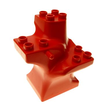 1 x Lego brick red Duplo Plant Tree Trunk Segment Base Set 2864 9189 3093 3608 4114417 6411