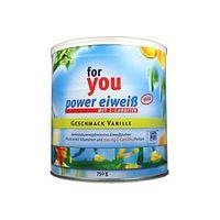 For You Power Eiweiss plus 750 g Vanille Abnahme Diät