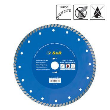 S&R Diamanttrennscheibe 230x2,6(7,0)x22,2 mm Turbo Premium Beton   Trockenschnitt