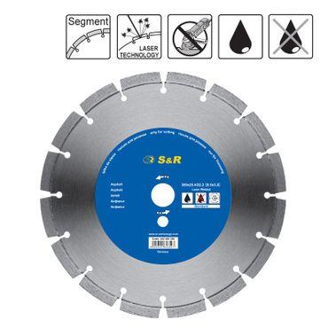 S&R Diamantscheibe Segment 350x2,2x25,4/20 laser Standard Asphalt S21-40,3x3,2x13 Nass/Trockenschn.