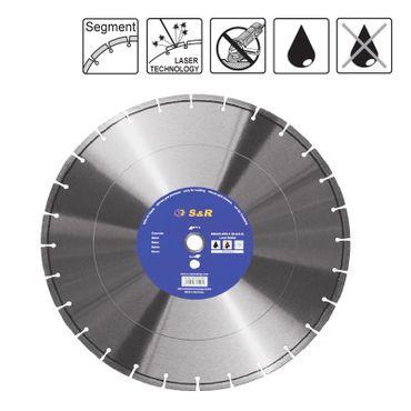 S&R Diamantscheibe Segment 400x2,2x25,4/20 laser Standard Asphalt S24-39,6x3,2x13 Nass/Trockenschn.