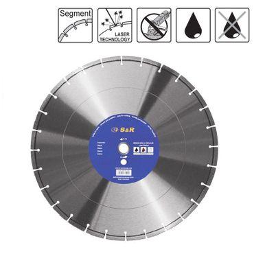 S&R Diamantscheibe Segment 350x2,2x25,4/20  laser Standard Beton  S21-40,3x3,0x10+3 mm Nass/Trocken
