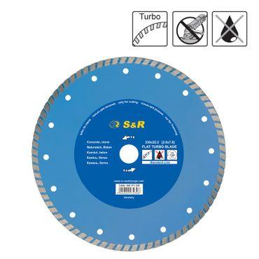 S&R Diamanttrennscheibe 230x2,6(7,0)x22,2 mm Turbo Standard Beton Trockenschnitt