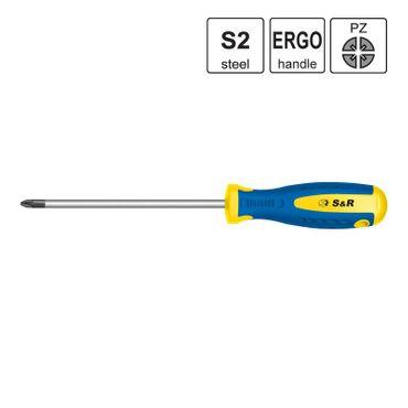 S&R Schraubendreher PZ 2x100 S2 Serie