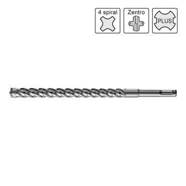 S&R Hammerbohrer SDS 4plus ZENTRO 14x160/100 mm