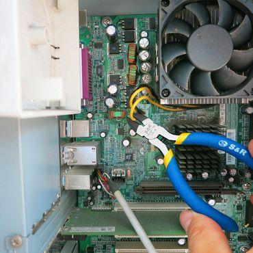 S&R Elektronik Seitenschneider (Radiozange) 115x18 mm, CR-V Stahl PVC-beschichtete Griffe – Bild 5