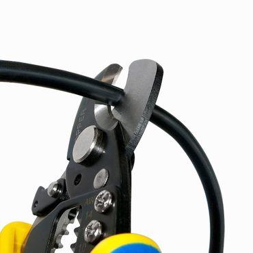 S&R Elektro-Kabelschneider Kupferkabel / Entmanteler 170 mm, Kabelschere bis 11 mm, Abisolierer AWG 14,12,10, 8 – Bild 3