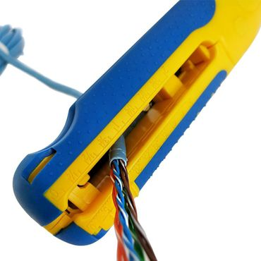 S&R MULTI Universal-Abisolierwerkzeug / Kabelschneider 3x1,5 mm / Bithalter PZ2 & Schlitz 4.0mm, Abmanteler Niedervolt Kabel 8-13mm Kabel 10-20AWG, SAT/RG6 & RG59 Abisolierer Entmanteler – Bild 8