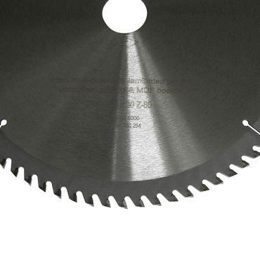S&R Kreissägeblatt 254x30x2,4mm 80T /Wood Craft/ Holz Kraft in Profiqualität  – Bild 2