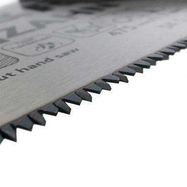 S&R Handsäge Feinschnitt, Länge 475mm, 11 Zähne/Zoll, Bi-Material, 3D-Verzahnung, Sägeblatt 0,9 mm – Bild 4