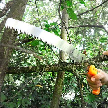 GRÜNTEK gebogene Gartensäge  Orca 330 mm, Baumsäge Handsäge mit Kunststoffhalter – Bild 6