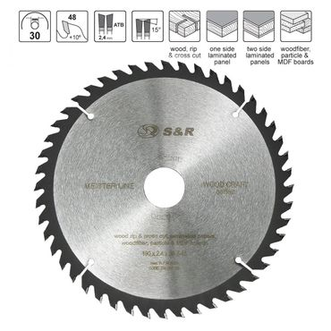 S&R Kreissägeblatt 250x30x2,6mm 80T /Wood Craft/ Holz Kraft in Profiqualität  – Bild 1