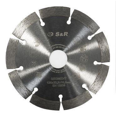 S&R Meister Diamanttrennscheibe Segment 125x22,2x10 2,2mm Segment Standard  für Beton, armierter Beton, Granit, Naturstein, Ziegel – Bild 2