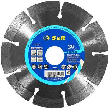 S&R Meister Diamanttrennscheibe Segment 125x22,2x10 2,2mm Segment Standard  für Beton, armierter Beton, Granit, Naturstein, Ziegel – Bild 1