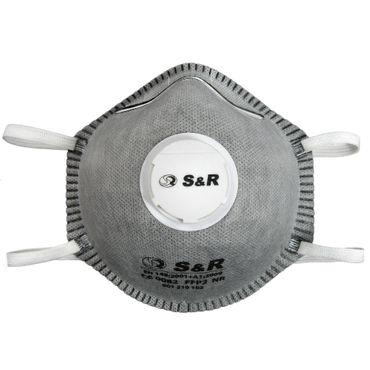 S&R Atemschutzmaske / Atemmaske / Mundschutzmaske Set 10 Stück, mit Schutzklasse FFP2 geprüft / 4 Schichten Filter mit Geruchsschutz / geeignet für den privaten und gewerblichen Gebrauch  – Bild 1