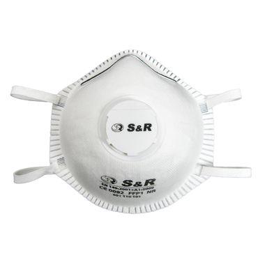 S&R Atemschutzmaske / Atemmaske / Mundschutzmaske Set 10 Stück, mit Schutzklasse FFP1 geprüft, 3 Schichten Filter, geeignet für den privaten und gewerblichen Gebrauch  – Bild 1