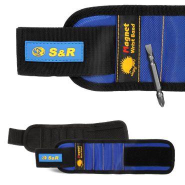 S&R Magnetisches Armband IGEL mit PH-SL Bit; Magnetarmband hält Schrauben, Nägel, kleine Werkzeuge, Bits, Stecknadeln. Hand-Werkzeuggürtel – Bild 1