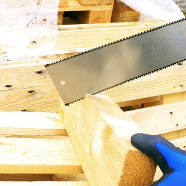 GRÜNTEK FUGU Japansäge mit beidseitig verzahntem Sägeblatt 300mm , Flexible Ryoba Holzsäge für Grob- und Feinschnitt – Bild 2