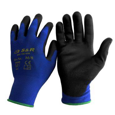 S&R Schutzhandschuhen 12 Paar aus Nylonfaser mit Polyurethanbeschichtung , Gr. L/9, geeignet für den privaten und gewerblichen Gebrauch  – Bild 1
