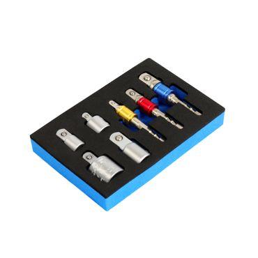"""S&R Stecknuss-Adapter-Set 7-tlg.:  3 Stück 1/4"""" Sechskant-Adapter für 1/4""""-, 1/2""""-,  3/8"""" -Vierkant  + 4 Stück Adapter für F3/8"""" x  M1/4"""",  F1/4"""" x  M3/8"""",  F1/2"""" x  M3/8"""", F3/8"""" x  M1/2"""" – Bild 6"""