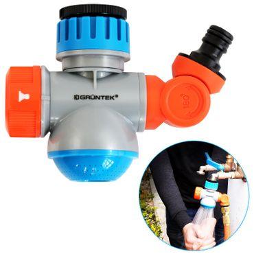 GRÜNTEK Multifunktions-Wasserhahn-Adapter mit Schlauch-Kupplung und Wasserhahn Funktion mit 2 Strahlungsarten  – Bild 1