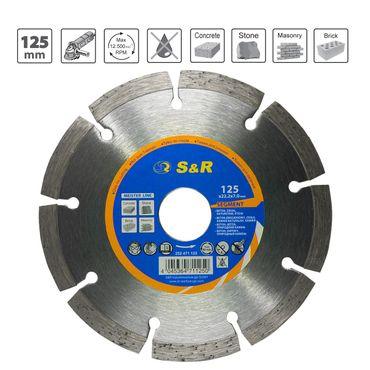 S&R Diamanttrennscheibe Segment 125x7x22,2 mm Standard, für Universal, lasergeschweißt, Trockenschnitt – Bild 1
