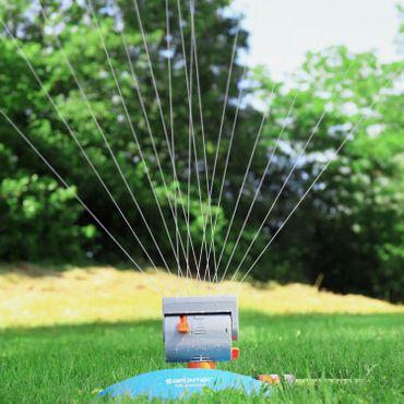 GRÜNTEK Mini - Rasensprenger mit 16 Düsen bis 378 m2 / 4069 ft2 Bewässerungsfläche mit Turbo-Motor – Bild 6