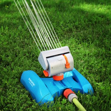 GRÜNTEK Mini - Rasensprenger mit 16 Düsen bis 378 m2 / 4069 ft2 Bewässerungsfläche mit Turbo-Motor – Bild 7