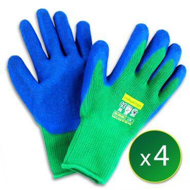 GRÜNTEK 4 Paar Schutz-Winterhandschuhe mit Polyesterfutter und Latexbeschichtung , Gr. XL/10, geeignet für den privaten und gewerblichen Gebrauch  – Bild 7