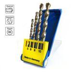 S&R Betonbohrer Set, Superschlag mit zylindrischem Schaft /für Beton, Ziegel, Naturstein und Kunststein/ in Kunststoffbox 4Stk: 5x85, 6x100, 8x120, 10x120 mm 001
