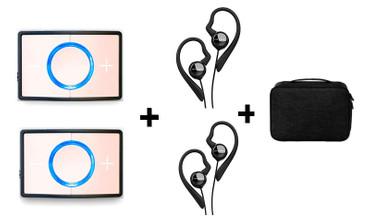 CEECOACH Duo Set Rosa + Bügelheadsets und Tasche – Bild 1
