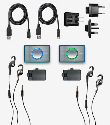 CEECOACH 2 Bluetooth Duo Set türkis/silber – Bild 2