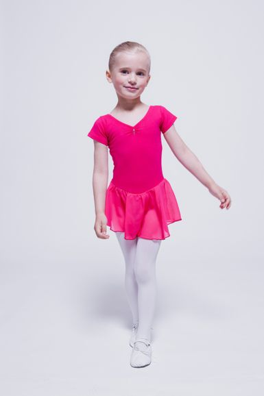 "Kurzarm Ballett Trikot ""Betty"" mit Chiffon Rock, pink"