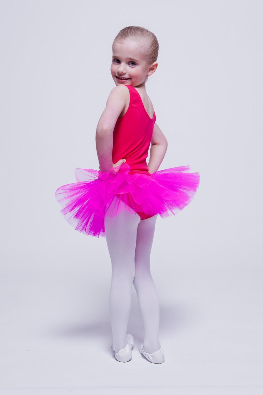 """tanzmuster Kinder Ballett Tuturock /""""Pia/"""" schwarz Tutu Rock Ballettrock Röckchen"""