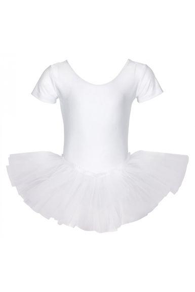 "Ballett Tutu ""Alina"" mit kurzem Arm, weiß"