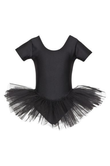 """Ballett Tutu """"Alina"""" mit kurzem Arm, schwarz"""