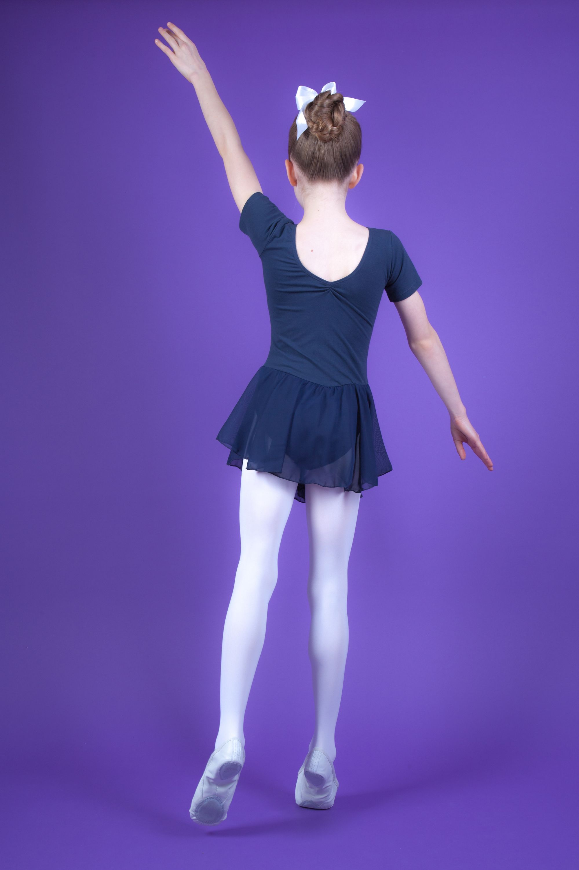 "details zu tanzmuster kinder ballett trikot ""betty"" dunkelblau ballettkleid  ballettanzug"