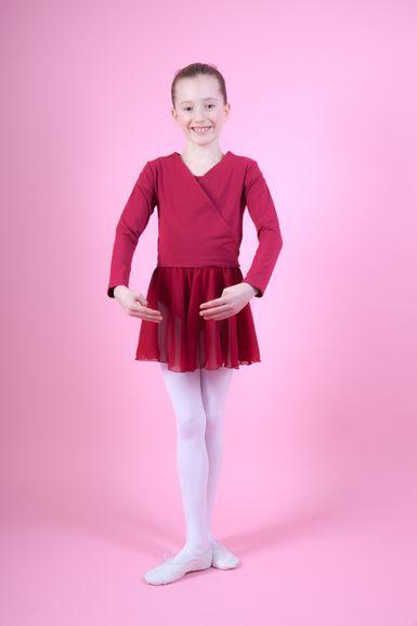 """Ballett Wickeljacke """"Mandy"""", burgunder"""